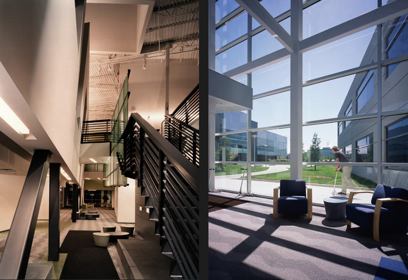 Interior design details of the Microsoft Campus as designed by Quezada Architecture